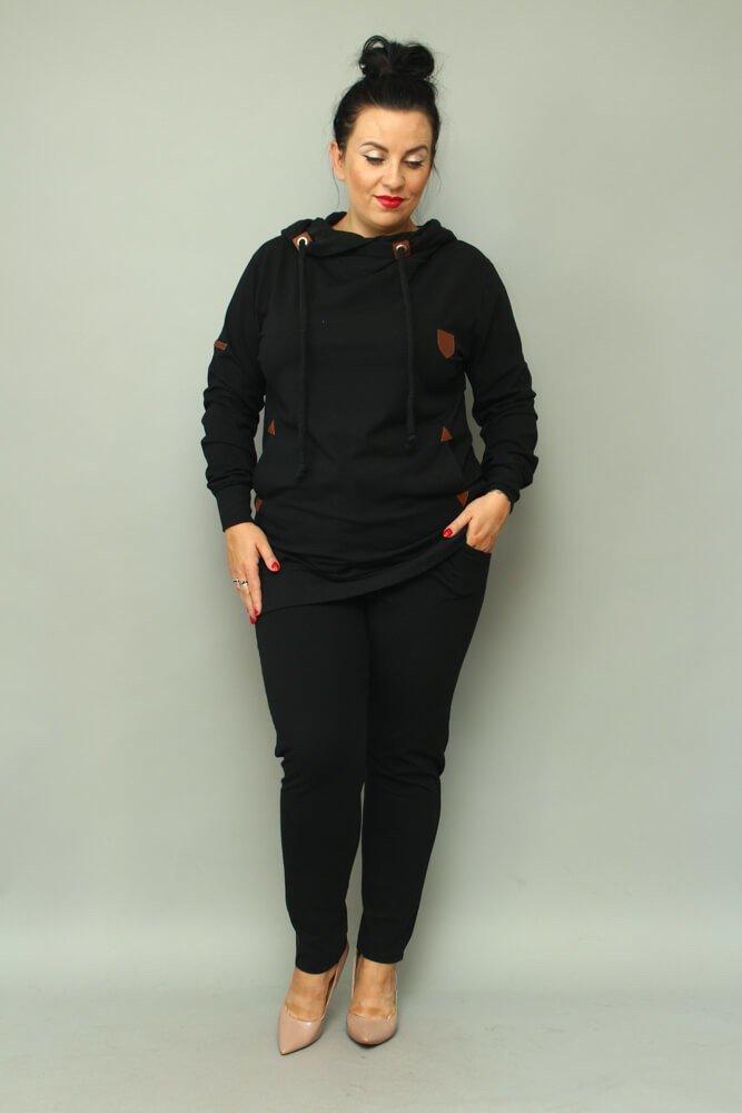 Czarny Dres damski MOVANO Plus Size