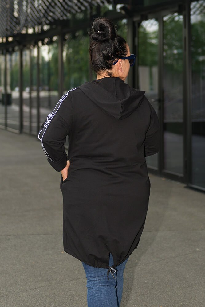 Czarny Kardigan AGENZA Plus Size