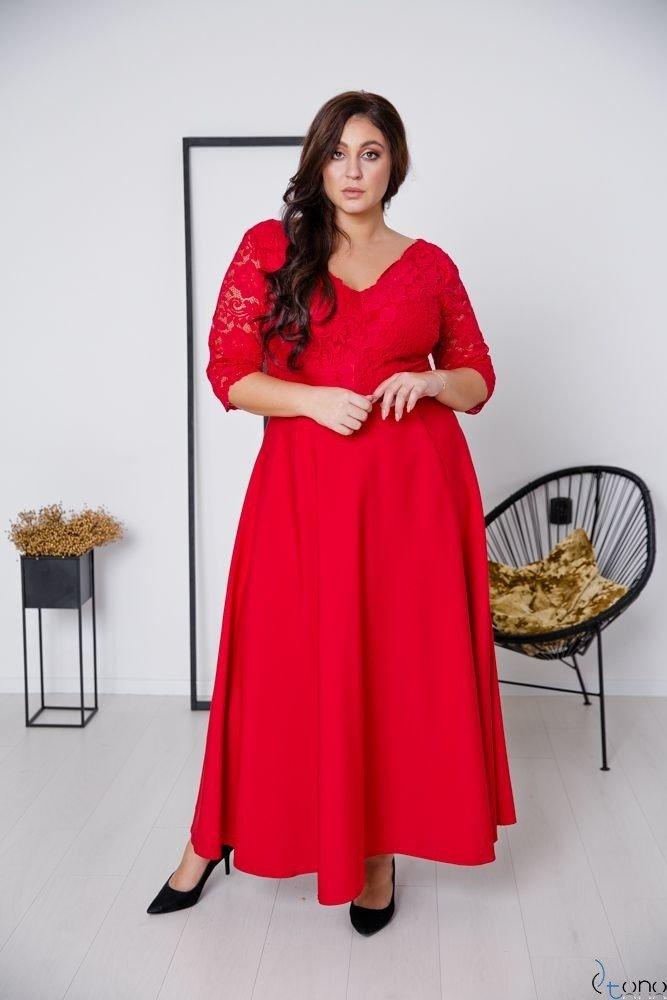 Czerwona Sukienka ELIZ Plus Size
