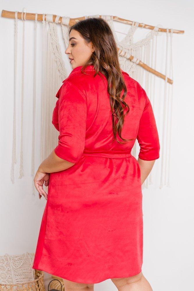 Czerwona Sukienka PETYA Plus Size