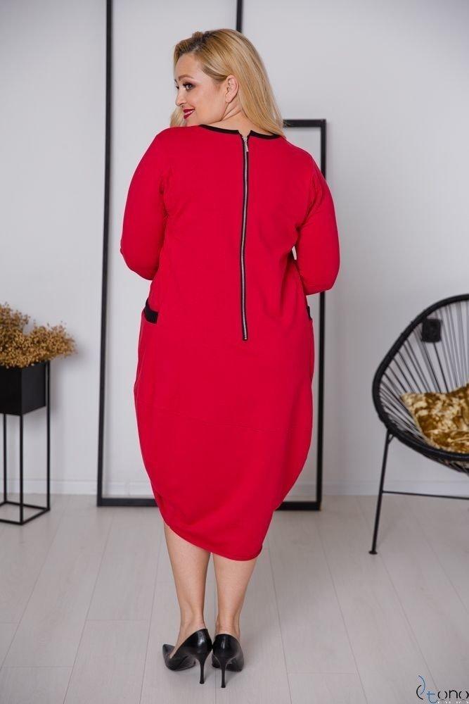 Czerwona Sukienka SYSTEM Plus Size