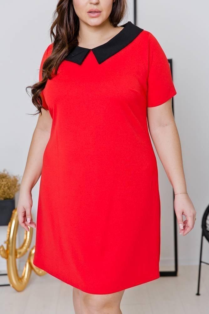 Czerwona Sukienka VIRGO Plus Size
