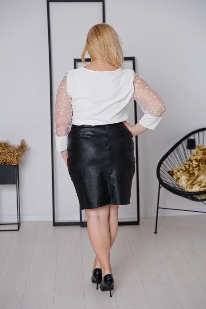Ecru Bluzka SEVERIA Plus Size