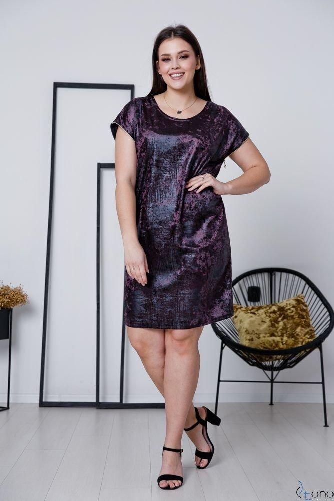 Fioletowa Sukienka CARBONA Plus Size
