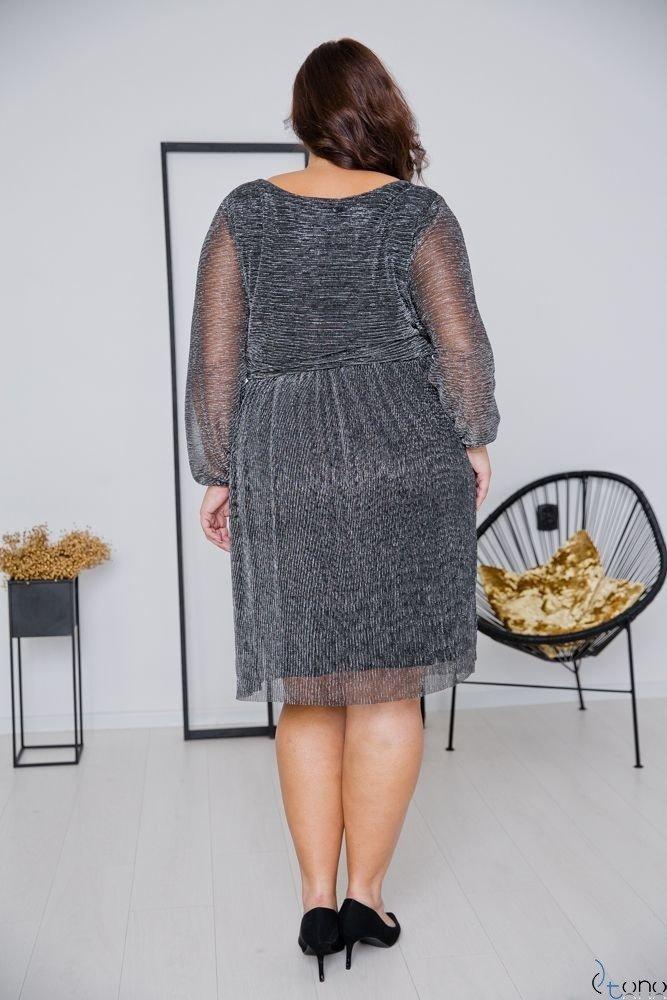 Grafitowa Sukienka NIKOLLA Plus Size