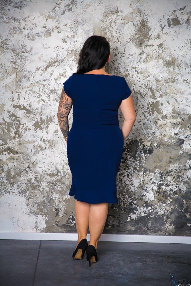 Granatowa Sukienka PAOLA Plus Size