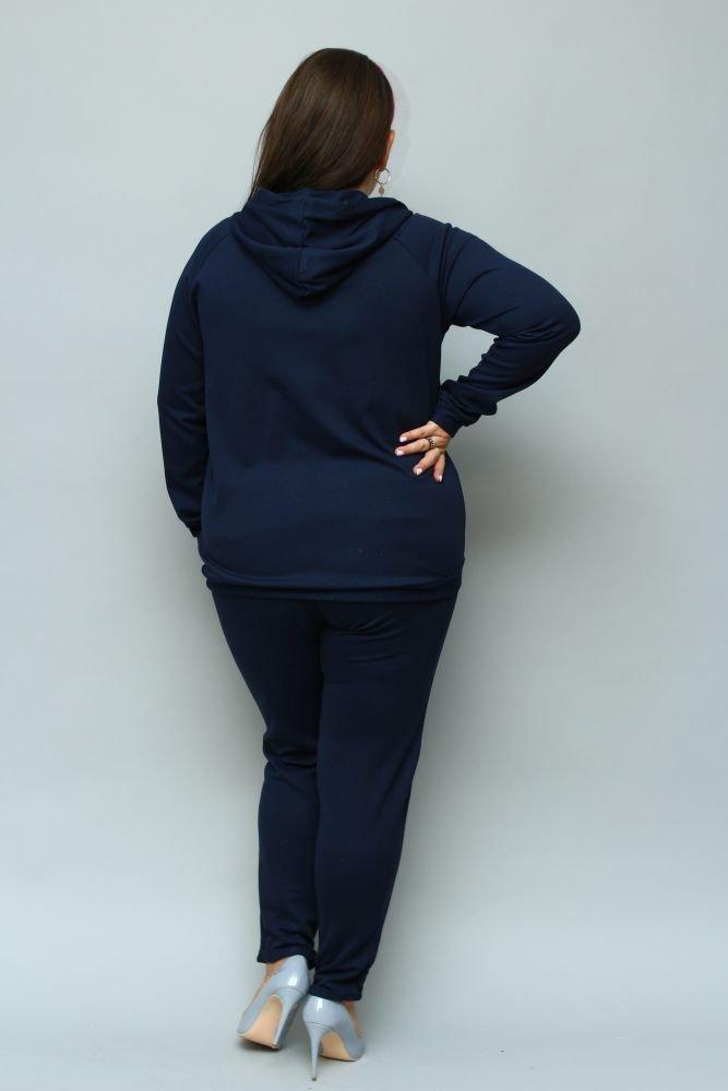 Granatowy Dres ASPART Plus Size