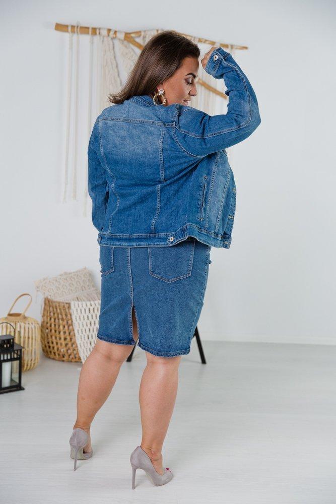 Jeansowa Kurtka TICKET Plus Size