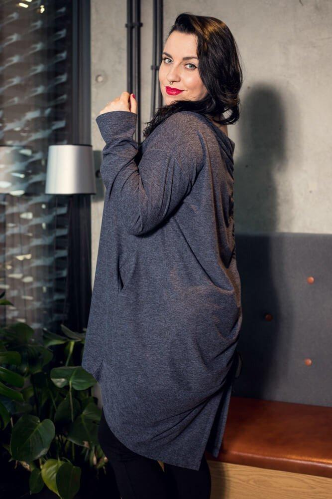 Jeansowa Tunika TELIZA Reguolowana Plus Size ściągany tył