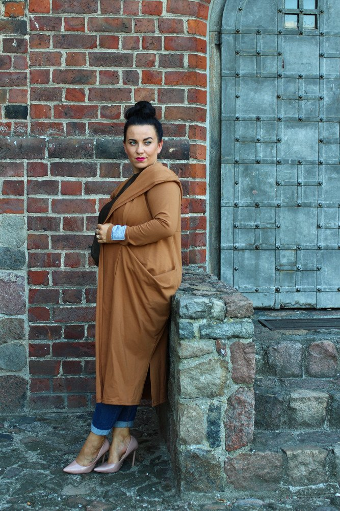 Kardigan COREL Plus Size Camel