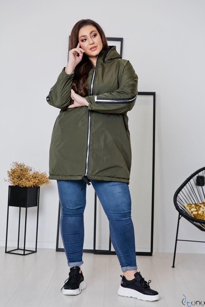 Khaki Kurtka MERCAN Plus Size
