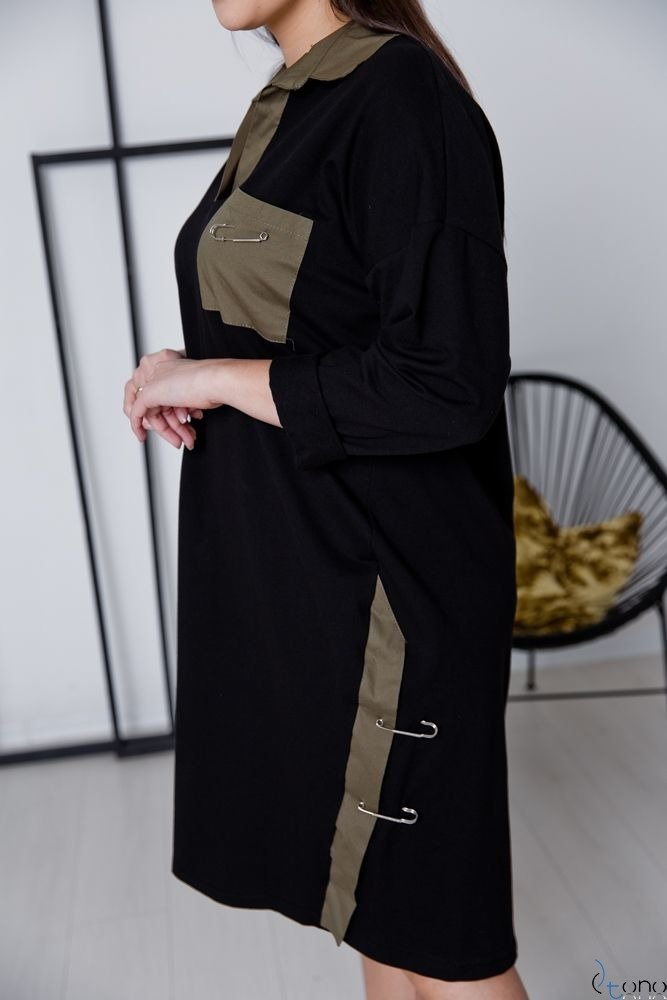 Khaki Sukienka AFTER Plus Size