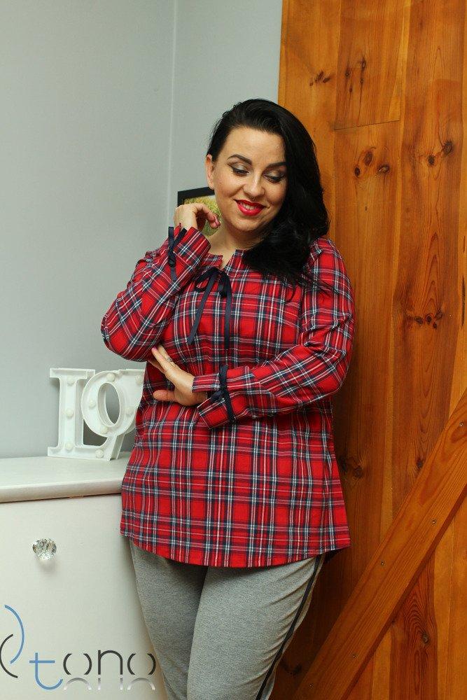 Koszula damska FANCY Krata Plus Size wzór 2