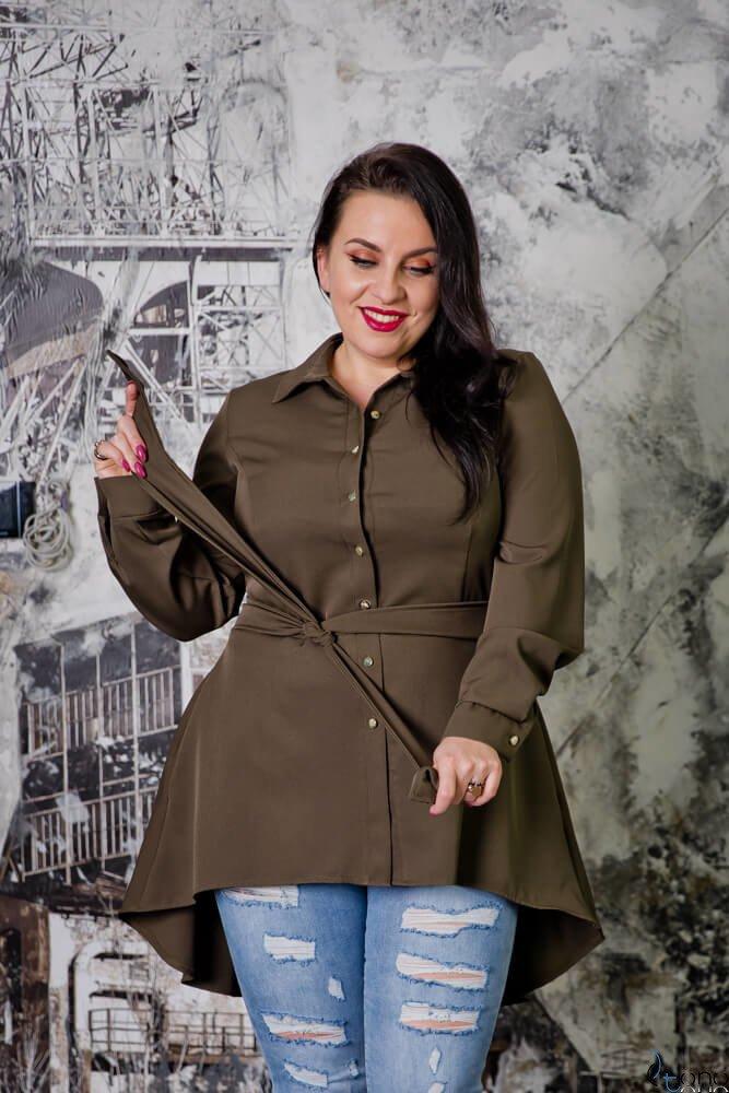 Koszula damska LANICA Khaki Plus Size