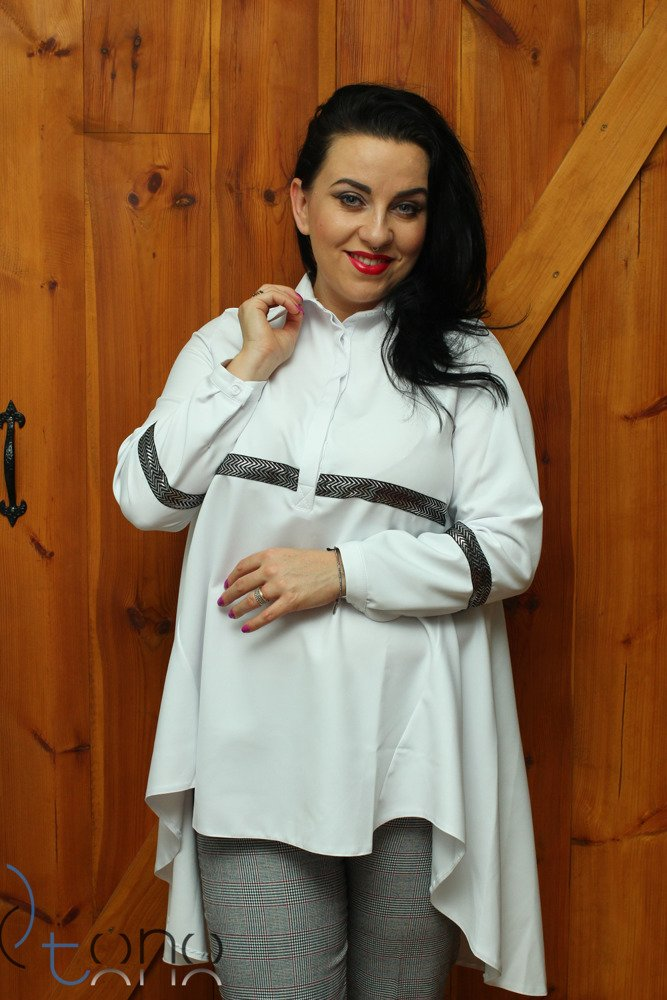Koszula damska TESORA Rozkloszowana Oversize