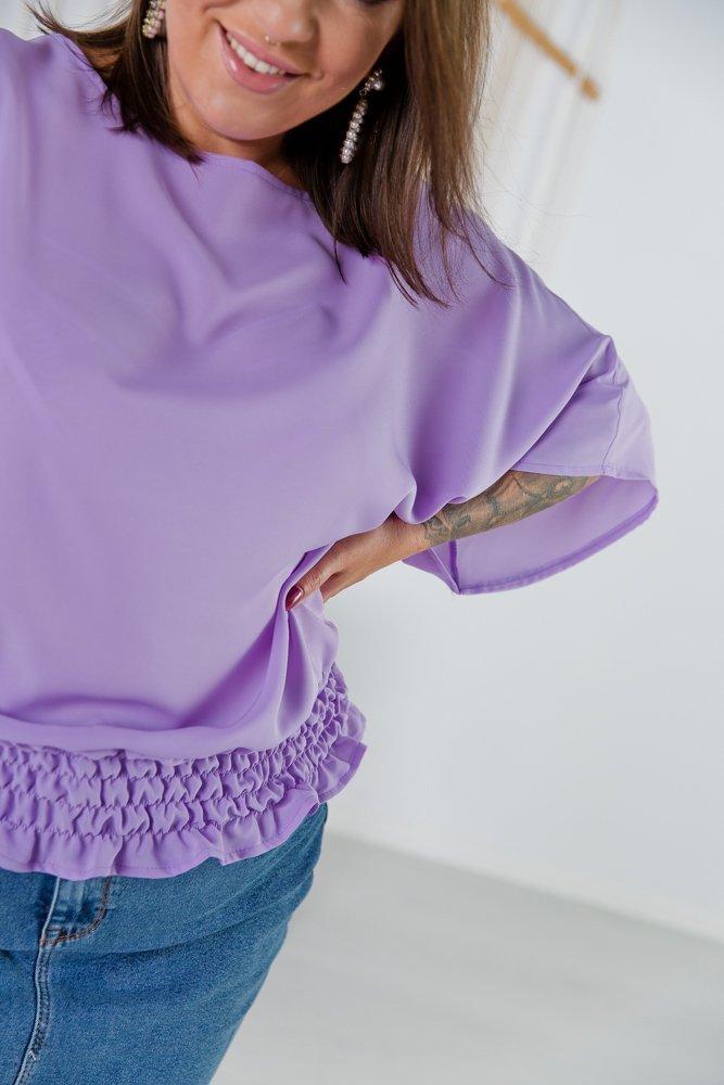 Liliowa Bluzka LUCCIA Plus Size