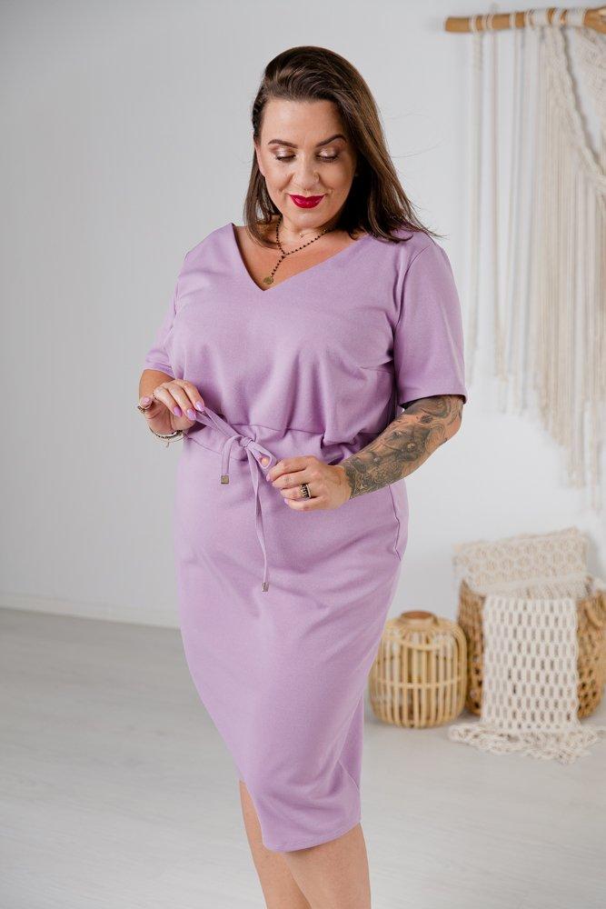 Liliowa Sukienka ELMIRA Plus Size