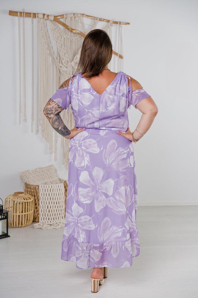 Liliowa Sukienka VINDY Plus Size