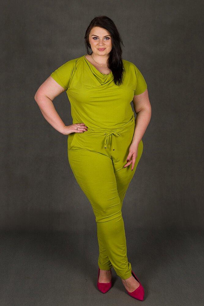 Limonkowa Kombinezon damski MILO Size Plus Wygodny