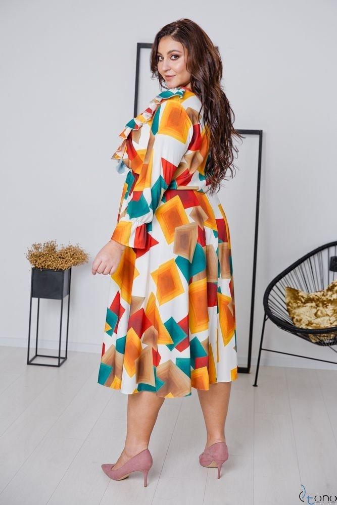 Multikolorowa Sukienka ANABEL Plus Size