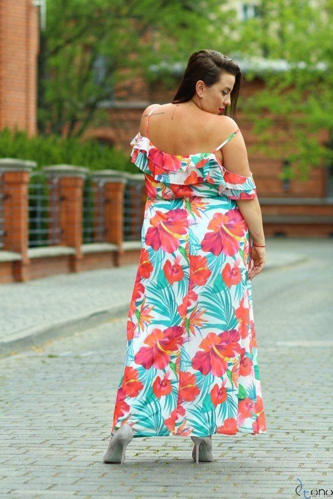 Multikolorowa Sukienka DOREN Plus Size