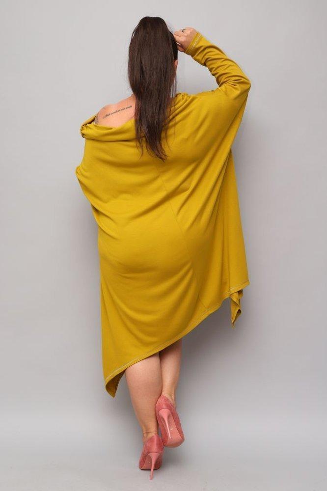 Musztardowa Tunika SALAMA Plus Size