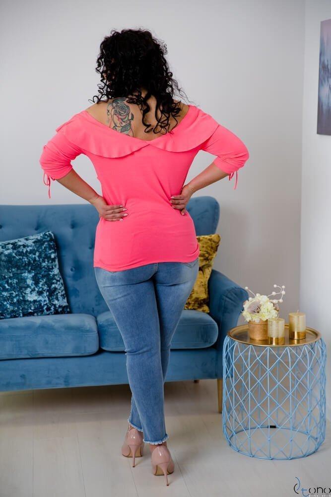 Neonowo-różowa Bluzka Filona Plus Size