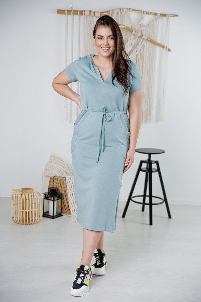 Niebieska Sukienka INKA Plus Size