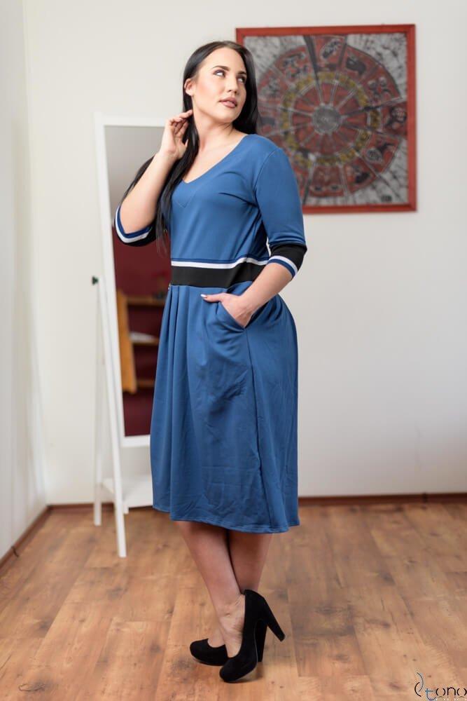 Niebieska Sukienka TEVEZ Plus Size