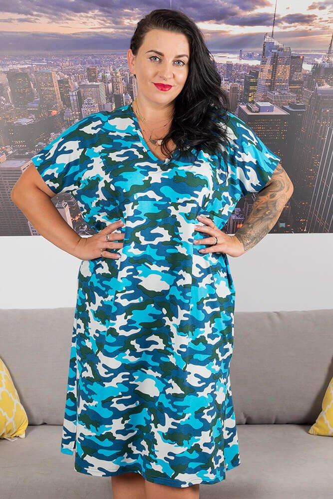 Niebieska Tunika Moro CUORE Plus Size