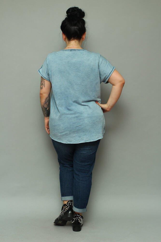Niebieska bluzka damska NOVARA T-shirt Plus Size