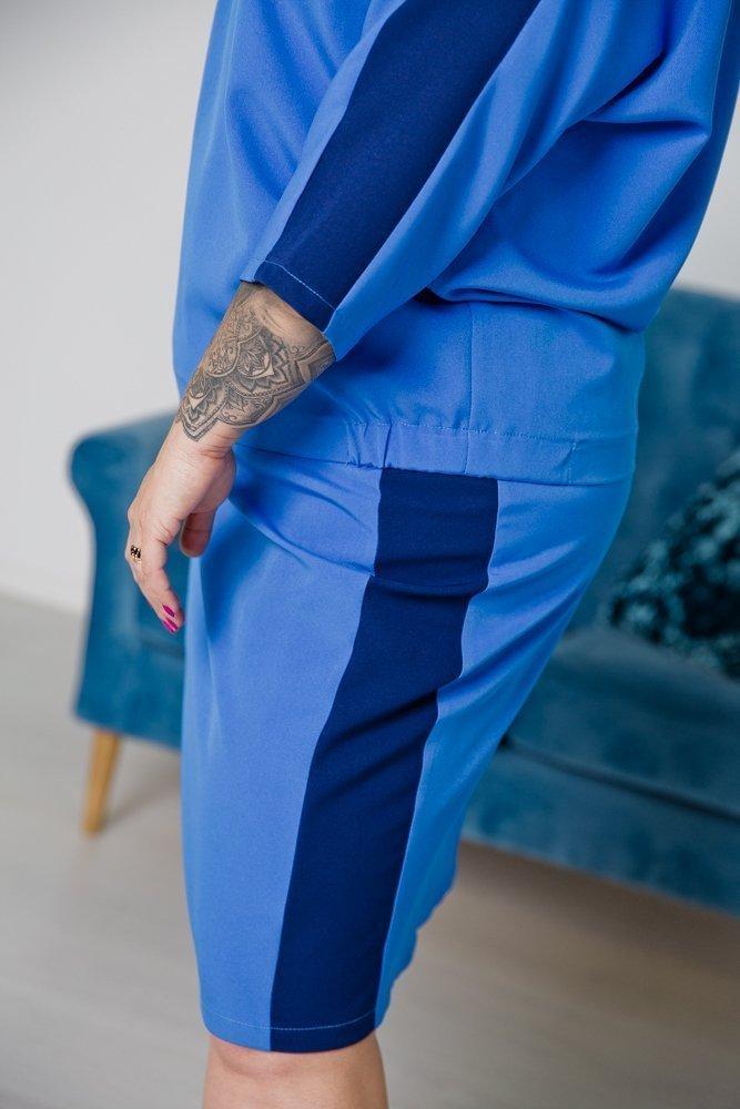 Niebieski Komplet KARMELA Plus Size