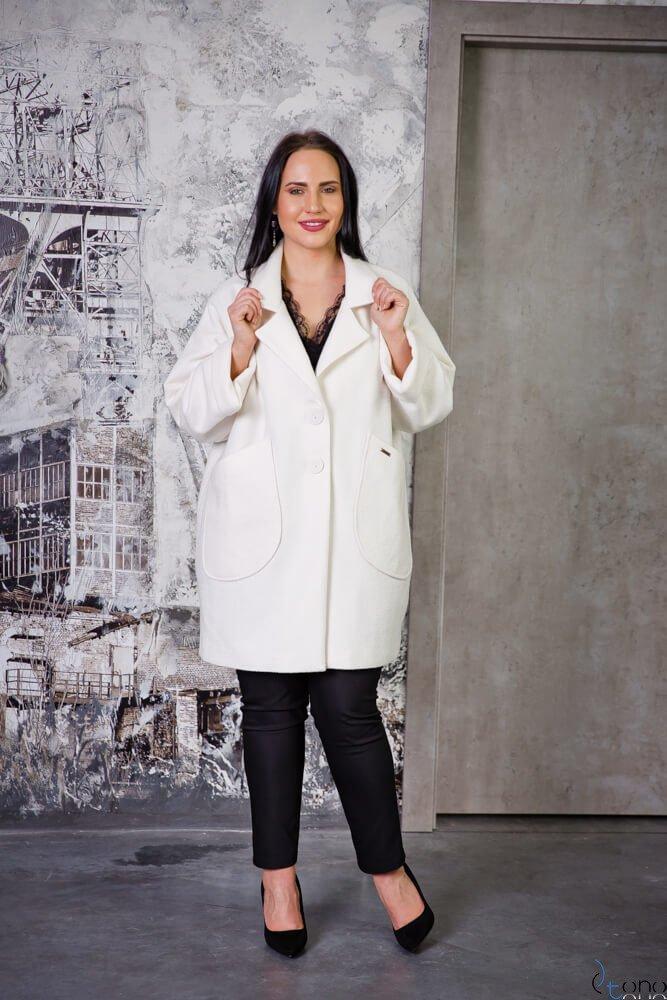 Płaszcz HOKER Ecru Plus Size