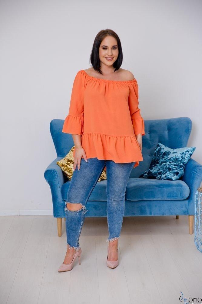Pomarańczowa Bluzka CARLITA Plus Size