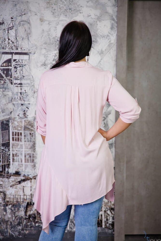 Różowa Bluzka CODINA Plus Size