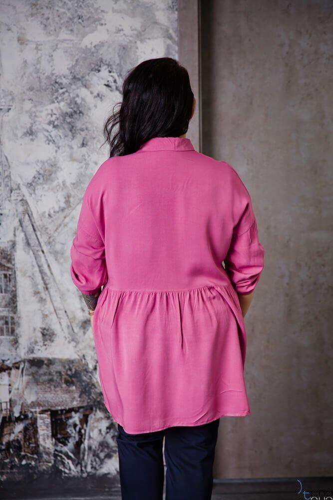 Różowa Bluzka PUNTA Plus Size