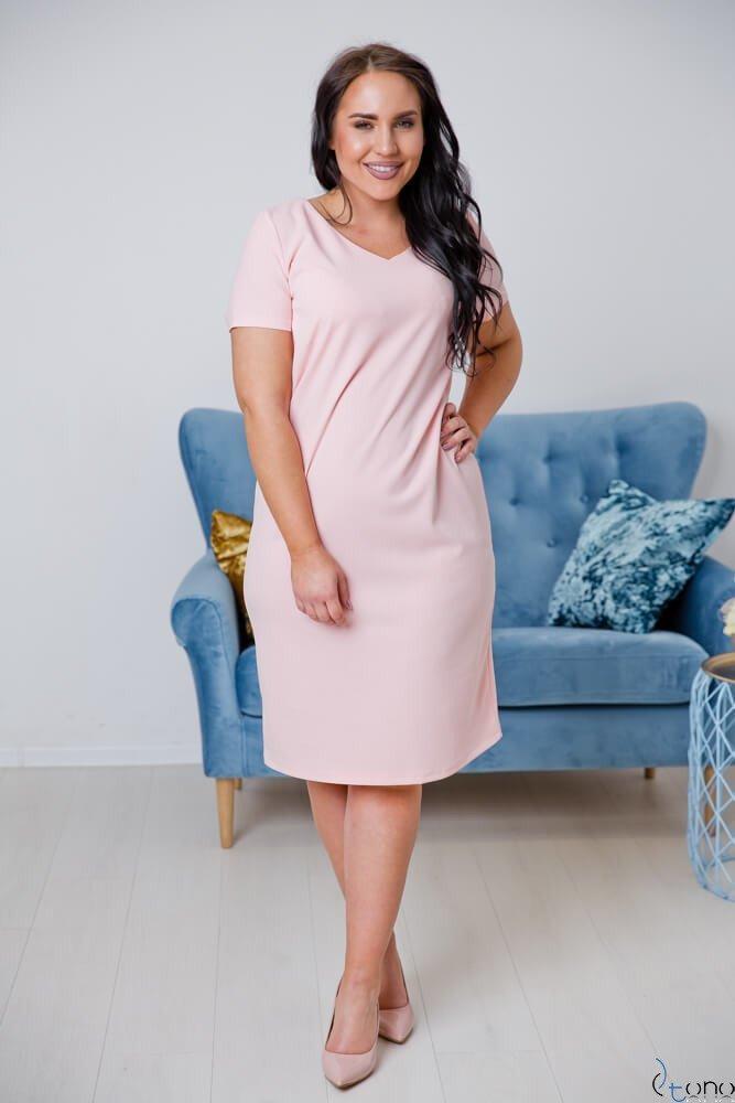 Różowa Sukienka MELIA Plus Size