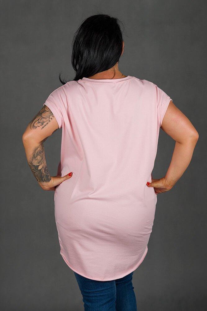 Różowa Tunika SOVA Plus Size