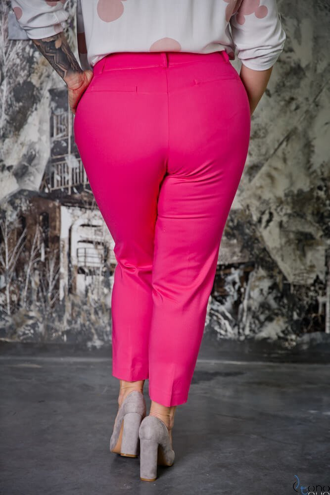 Różowe Spodnie ROBBEN Plus Size