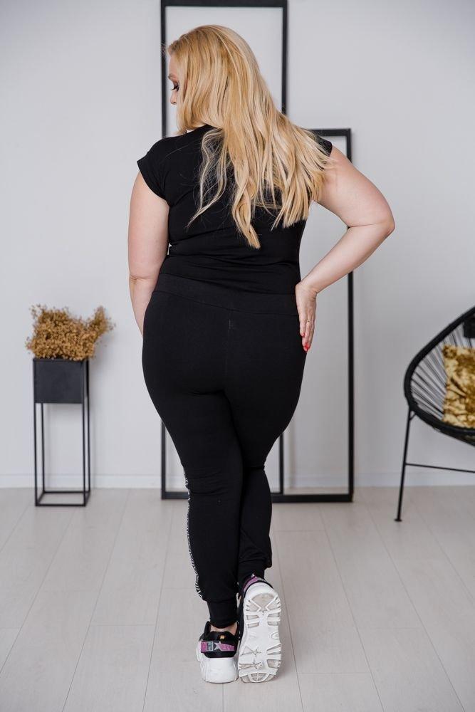 Spodnie LAMPASY Plus Size Wzór 2