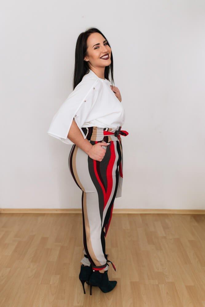 Spodnie SACCO Plus size Wysoki Stan wzór 1