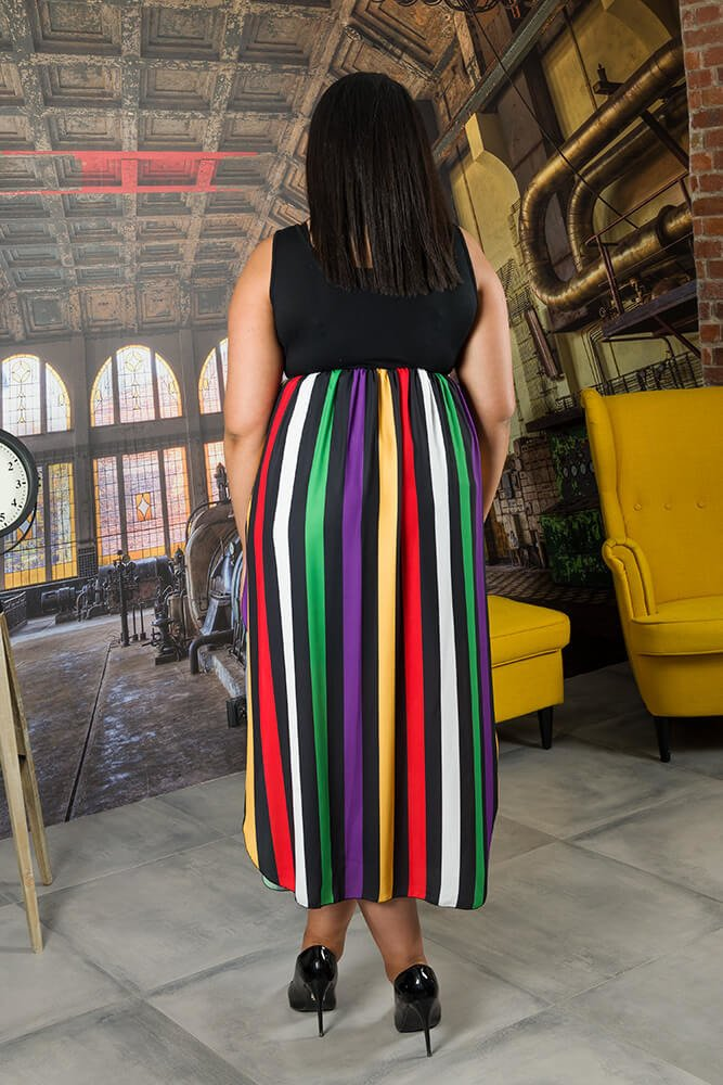 Sukienka BALLENA Pasy Plus Size