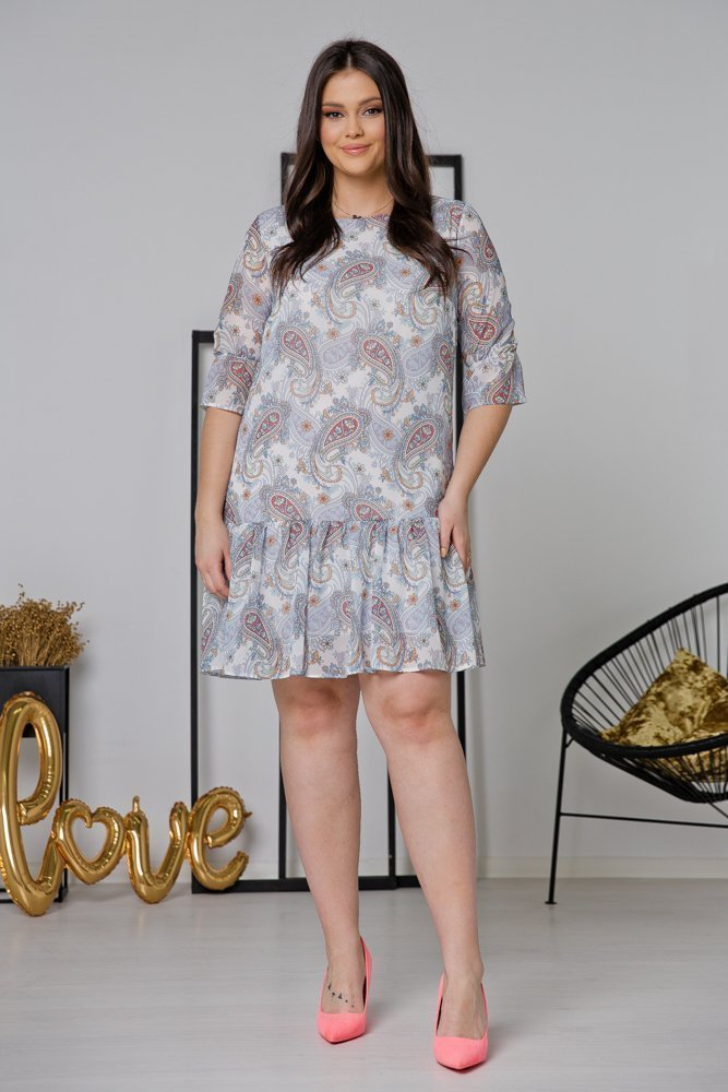 Sukienka ESTI Plus Size Wzór 11