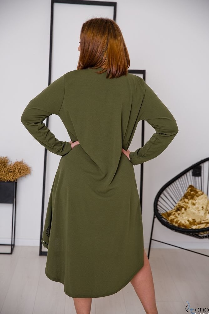 Sukienka FANTRINA Plus Size Khaki