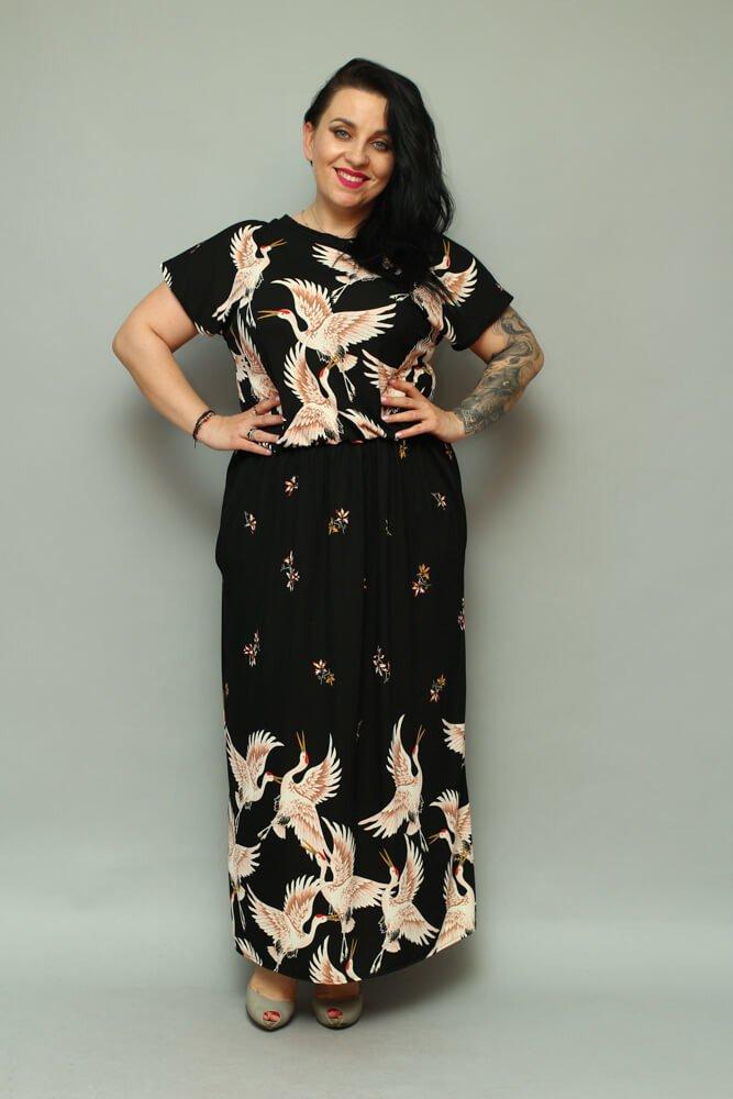 Sukienka GINA Unikalna Maxi Letnia Size Plus