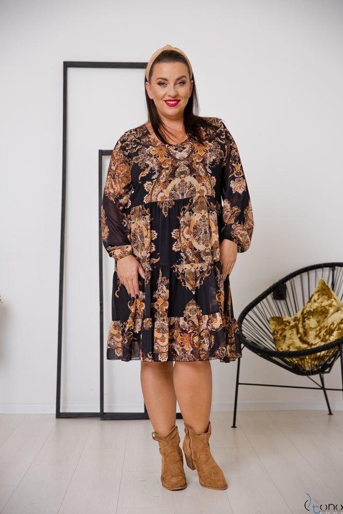 Sukienka MORENNA Plus Size Wzór 2