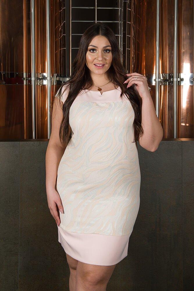Sukienka OMBRA Wizytowa Elegancka wzór 1