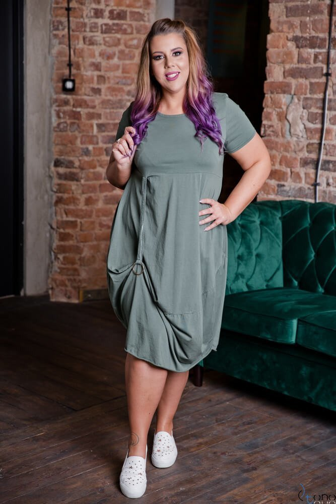 Sukienka ROLER Khaki Plus Size