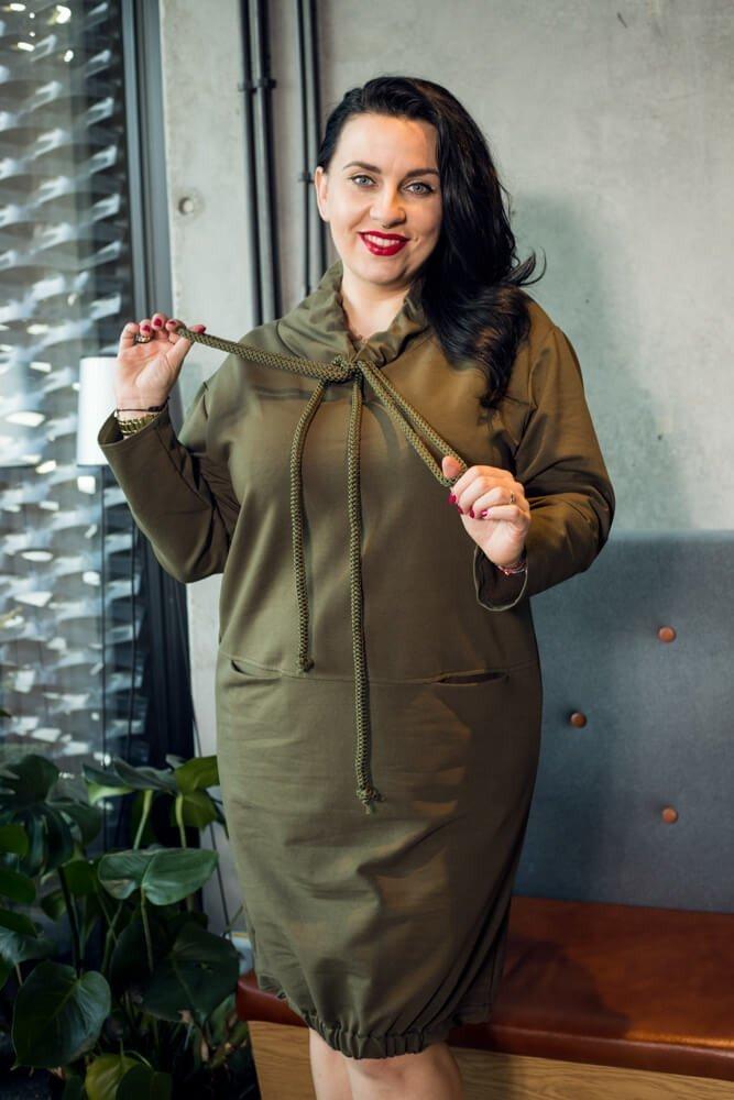 Sukienka SPOTY Casual Plus Size Khaki