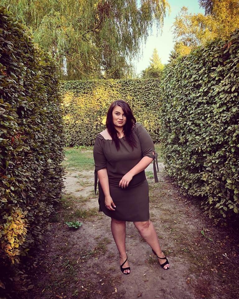 Sukienka VALENCIA Hiszpanka Plus Size KHAKI